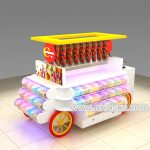 3m by 2m USA candy kiosk indoor design sweet candy mobile cart for sale