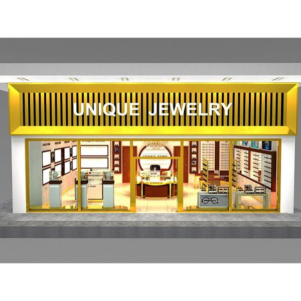 High class glass jewelry display cabinet , jewelry display counter design