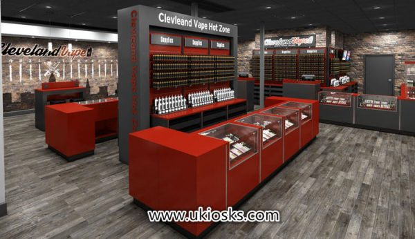 Newest trend popular sales electronic cigarette shop furniture