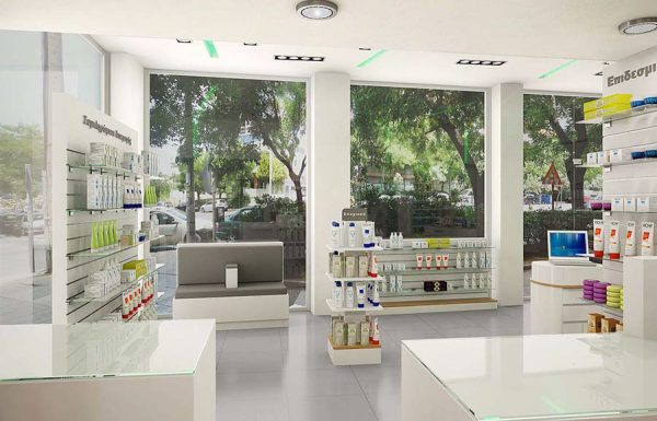 Exquisite pharmacy shop design high quality furnitures for store